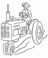 Farmer Coloring Tractor Farm Drawing Printable Farmers Sheets Nimbus Cartoon Insurance Visit Template Resolution Credit Tatuajes Kleurplaten sketch template