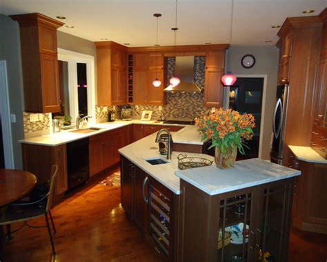 angled kitchen island houzz