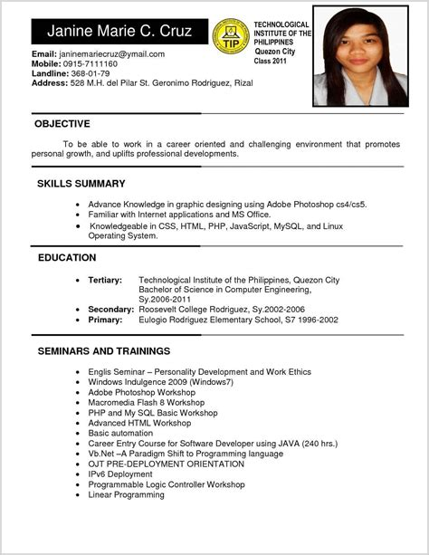 Chronological Resume Philippines by Biodata Form Philippines Doc With Pdf Free Plus