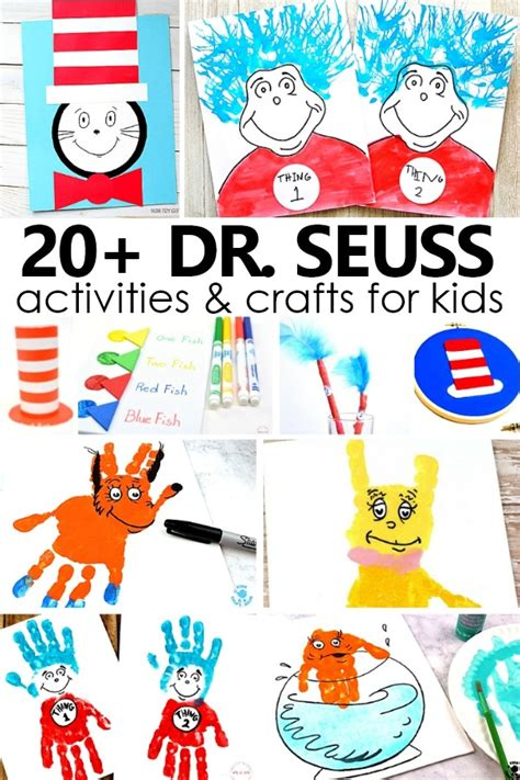 20 dr seuss crafts and projects fantastic 885 | 20 Dr. Seuss Activities and Crafts for Kids. Ideas for your favorite Dr. Seuss books and Read Across America Day preschool kindergarten drseuss