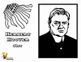 Hoover Presidents Printables President Herbert Yescoloring Coloring Usa Prestigious sketch template