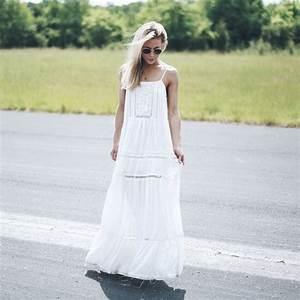 Robe Blanche Longue Boheme : robe d 39 t la beaut des robes blanches ~ Preciouscoupons.com Idées de Décoration