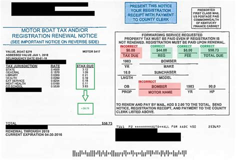 Boat Registration Ky by Motor Boat Tax And Registration Renewal Notice Information