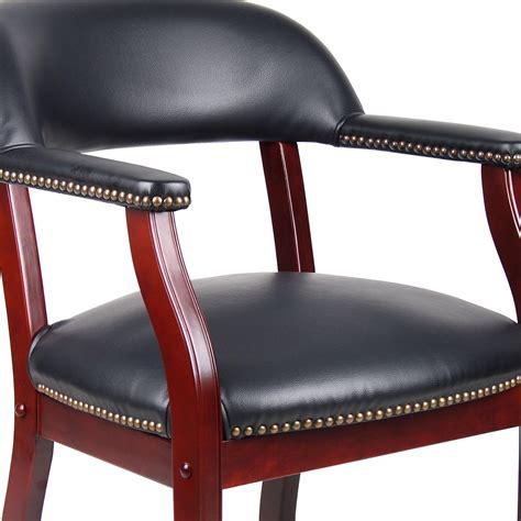 amazon com boss captain s chair in black vinyl kitchen