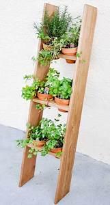 Echelle En Bois Déco : transformer une chelle en bois en jardin potager suspendu ~ Dailycaller-alerts.com Idées de Décoration