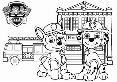Paw Patrol Coloring Fire Printable Station Tsgos
