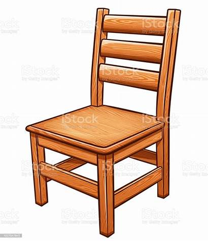 Chair Clip Background Vector Wooden Clipart Illustration