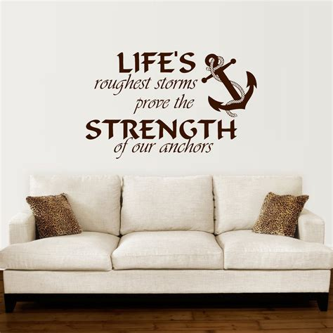 Decorative Quotes - anchor wall decal quotes nautical sayings wall vinyl