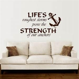 Anchor, Wall, Decal, Quotes, Nautical, Sayings, Wall, Vinyl, Sticker, Bedroom, Decor, Diy, Self, Adhesive