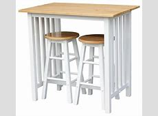 Casual Home 3Piece Breakfast Set With Hardwood Top, White