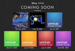 Pixar's Next 7 Films – Release Dates From 2020-2024 with ...
