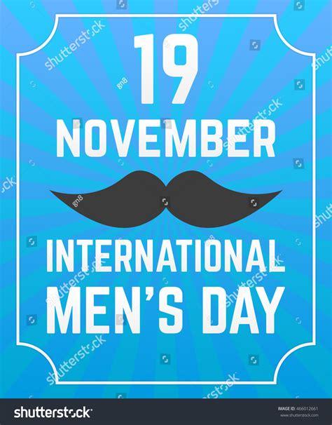 international mens day poster black mustache stock vector