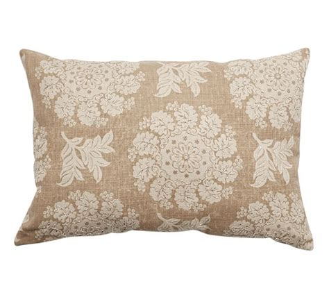 Floral Frame Beaded Lumbar Pillow Cover Pottery Barn by Serra Beaded Lumbar Pillow Pottery Barn