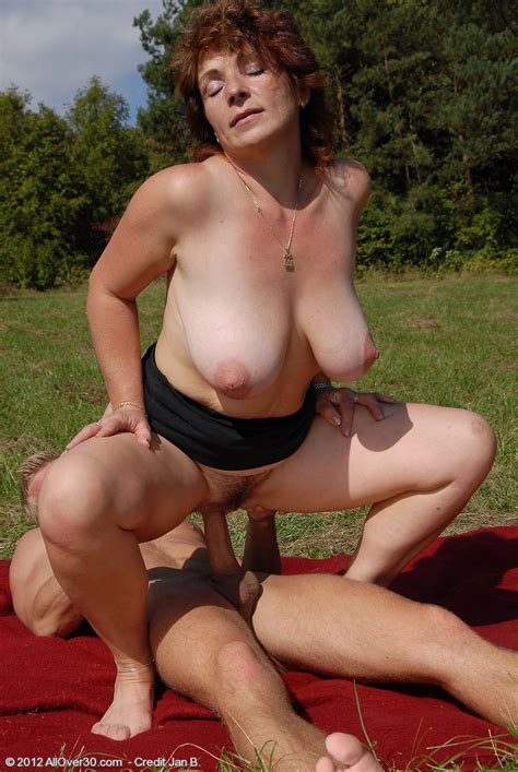 Redhead Milf Misti Fucking Hard At The Outdoor Photos Misti And Jan Milf Fox