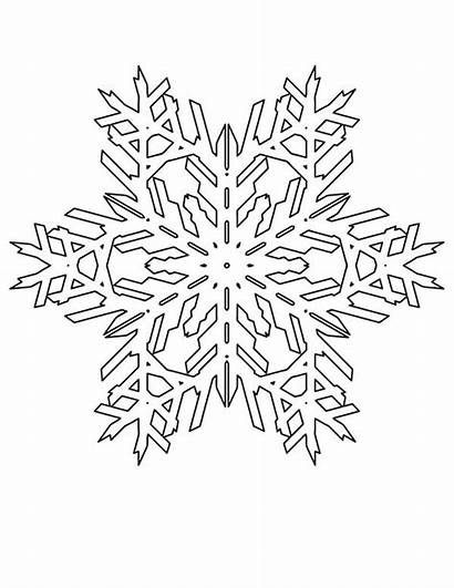 Snowflakes Coloring Christmas Pattern Snowflake Lovely Patterns