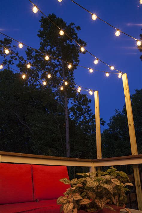 patio string lights hanging patio string lights a pattern of perfection