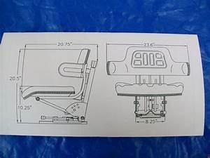 Suspension Seat John Deere Tractor Yellow 1020  1530  2020