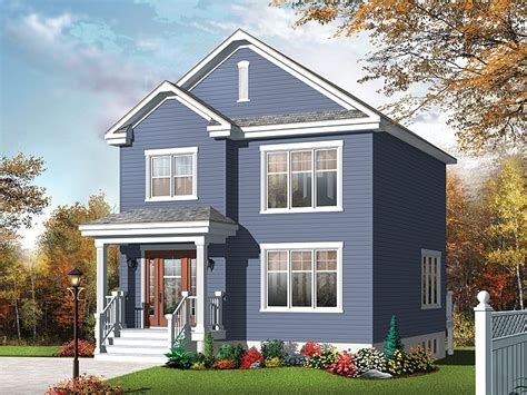 Small Two-story House Plan Fits A