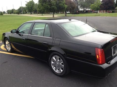 find used 2003 cadillac deville dts sable black chrome