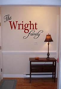 Personalized family name wall art vinyl decal sticker