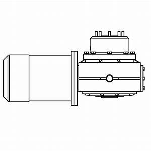 Lewmar V5  C5 24v Motor Gearbox