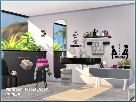 Bathroom Pisces Decor By Ung999 At Tsr » Sims 4 Updates