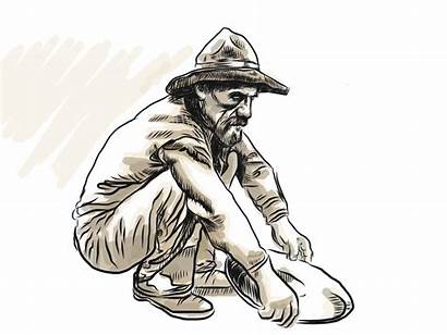 Gold Panning Prospector Drawing Clipartmag Behance