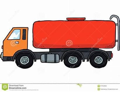 Cartoon Tanker Gasoline Fuel Background Illustration