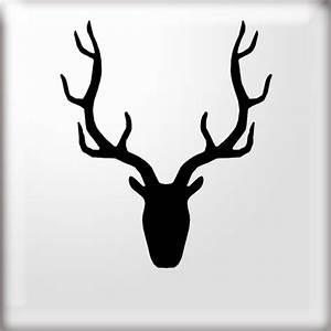 stags-head-silhouette-stencil-8705-p.jpg 500×500 pixels ...