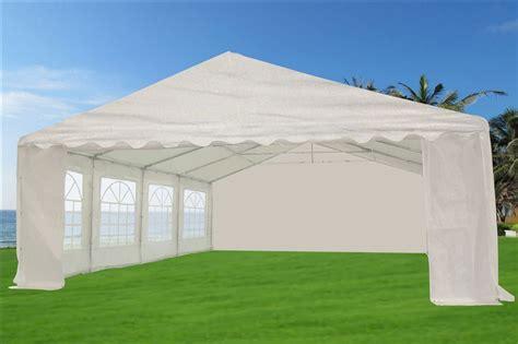 marque canap 46 x 20 heavy duty white tent gazebo canopy