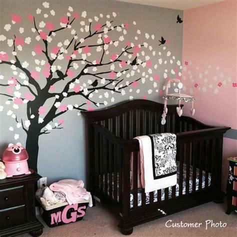 stickers arbre chambre fille deco chambre bebe fille stickers