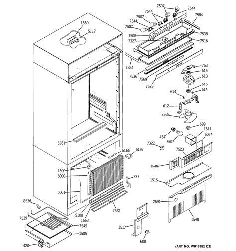 ge zicnmcrh bottom mount refrigerator parts sears partsdirect