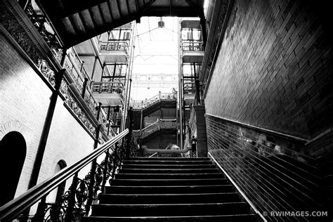 framed photo print  staircase bradbury building los