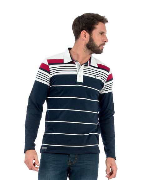 polo manches longues homme ray 233 tricolore polo mode