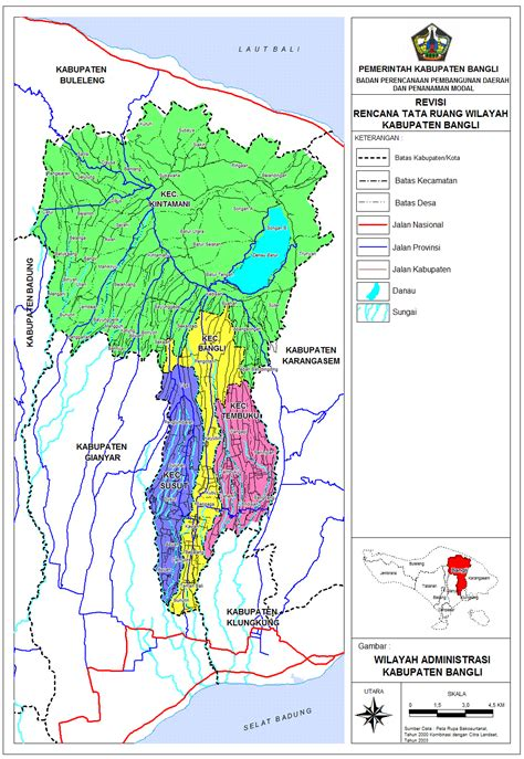 peta kota peta kabupaten bangli