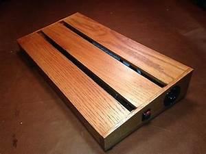 Pedalboard 12 U0026quot  X 24 U0026quot  Solid Oak With Powerstrip