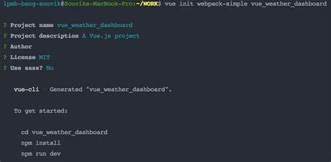 vuejs  create  interactive weather dashboard