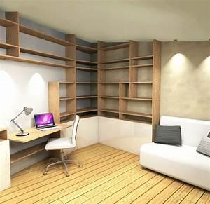 Deco Chambre Ami : conception espace bureau chambre ami stinside architecture d 39 int rieur ~ Melissatoandfro.com Idées de Décoration