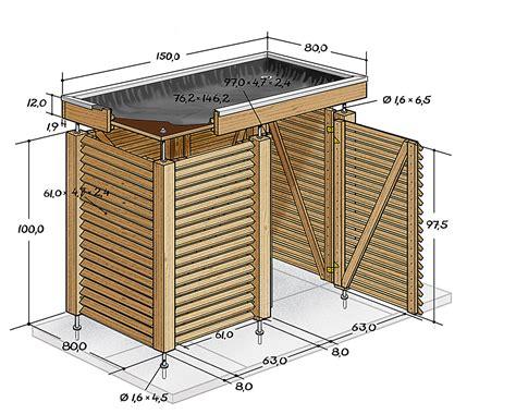 mülltonnenbox mit pflanzdach selber bauen m 252 lltonnenbox selber bauen anleitung