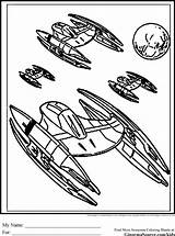 Wars Star Coloring Pages Ships Ship Fighter Disney Printables Space Starwars Spaceships Colouring Printable Stars Vector Template Sheets Print Sheet sketch template
