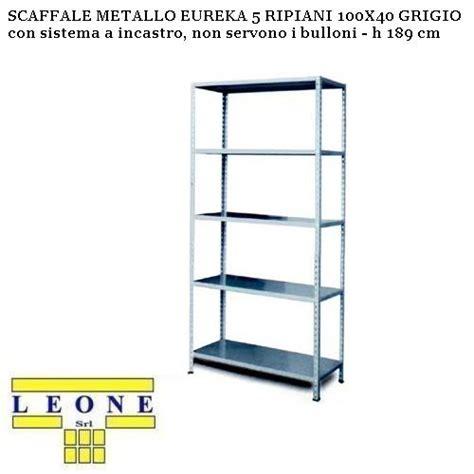 scaffale metallo brico scaffale metallo eureka 5 ripiani 100x40 grigio h 189 cm