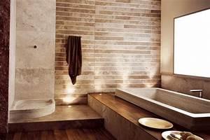 salle de bain travertin la beaute de la pierre de tivoli With pierre naturelle salle de bain