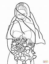 Groom Bride Coloring Pages Wedding Dress Printable Bouquet Drawing Barbie Clipart Skeleton Easy Getdrawings Clip Sheets sketch template