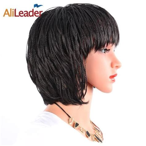 Alileader With Bangs Heat Resistant Synthetic Hair Black