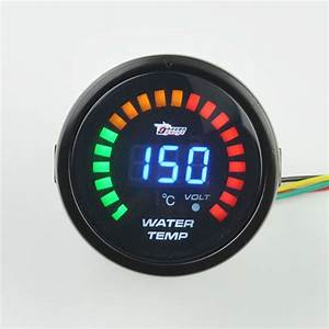 52mm Display 7 Color Backlight Black Shell Water