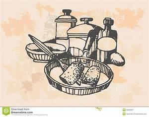 Chicken In Frying Pan - Retro Clipart Illustration Stock ...