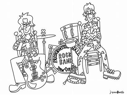 Coloring Band Rock Pages Drawing Template Colouring