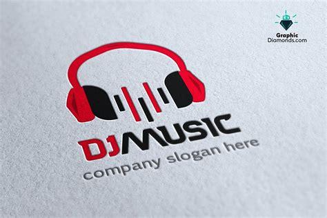 dj logo photoshop template dj music logo template logo templates creative market