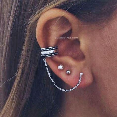 badass boho ear piercing ideas   trendy