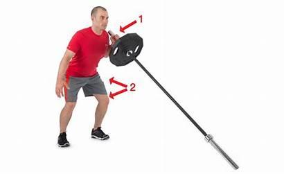 Press Landmine Squat Barbell Arm Chest Single